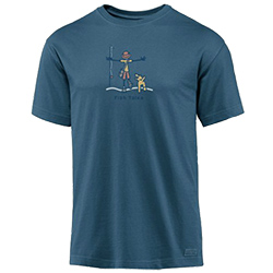 Life IS Good Men's Fish Tales Crusher Tee Shadow Xl, Men's Boating Graphic Short-Sleeve Tees