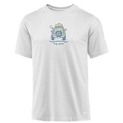 Life IS Good Men's Dog Gone Off Road Crusher Tee Grey, Men's Boating Graphic Short-Sleeve Tees