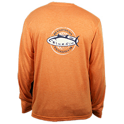 Bluefin Men's Pacifica Technical Long Sleeve Tee Coral Xl, Men's Boating Graphic Performance Long-Sleeve Tees