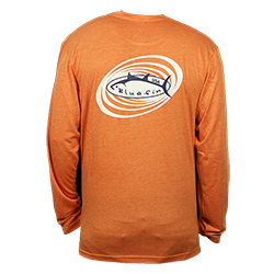 Bluefin Men's Spyro Technical Long Sleeve Tee Coral Xl, Men's Boating Graphic Performance Long-Sleeve Tees