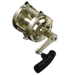 Alutecnos Albacore Conventional Reels 1 Speed Gold 1s Reel Class 50 Wide Line Capacity 800m/875yd 50lb Ratio 3 3 1 Weight 1 84kg/65 0 Oz, Conventional Fishing Reels for Boats & Yachts
