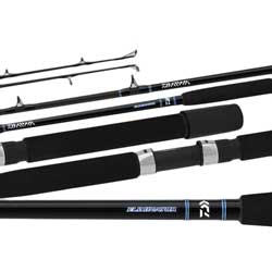 Daiwa Eliminator Boat Rods Conventional Rod Mh R 6'6'' 1 Piece 15 30 Lb Line Wt 8 Guides, Conventional Fishing Rods for Boats & Yachts