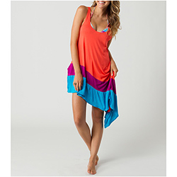 O'neill Women's Wizard Cover Dress Coral/purple/blue, Women's Boating Short Dresses