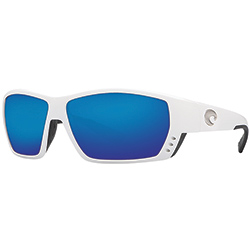 Costa Tuna Alley Sunglasses With 580g Lenses White/blue Mirror, Stylish Boating Sunglasses over $90