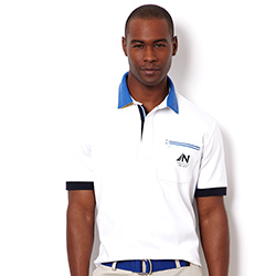Nautica Men's Pieced Polo White Xl, Men's Boating Polo Shirts