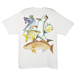 Guy Harvey Men's Inshore Collage Short Sleeve Tee White 2xl, Men's Boating Graphic Short-Sleeve Tees