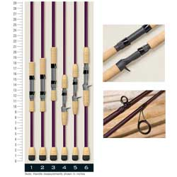 ST Croix Marine Mojo Inshore Casting Rods 7'6'' Mh Fast Action 1 Pc 10 20 Line Wt 1/2 1/4 Lure Handle 6 0oz, Baitcasting Fishing Rods for Boats & Yachts