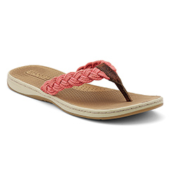 Sperry Top Sider Women's Tuckerfish Sandals Red 7, Women's Boating Sandals
