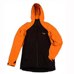 Old Harbor Outfitters Men's Waterproof Soft Shell Jacket Orange/black Xl, Men's Boating Casual Jackets