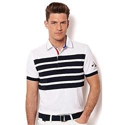 Nautica Men's American Polo White, Boaing Men's Knit Performance Short-Sleeve Shirts