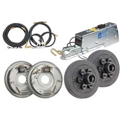 Tie Down Engineering Complete Drum Brake Installation Kit 12'' 800 Actuator, Trailer Brakes & Axles for Boats & Yachts
