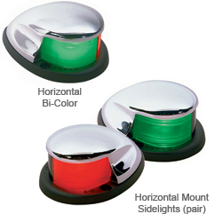 Perko Chrome Bi Color And Sidelights Horizontal (each), Navigation Lights for Boats & Yachts