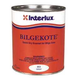 Interlux Bilgekote Gray Enamel Gray Quart, Specialty & Nonskid Paints for Boats & Yachts