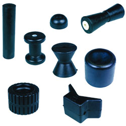 C E Smith Molded Rubber Trailer Rollers Guards And Caps Keel Spool 4'' X 3'' Od 5/8'' Shaft, Bunks & Rollers for Boats & Yachts