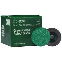 3M Green Corps Roloc Disc 2'' 50 Grit 25 Pk, Abrasive Discs for Boats & Yachts
