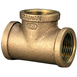 Seafit Bronze Tee Fittings 1 1/4'' Npt, Metal Plumbing Fittings for Boats & Yachts