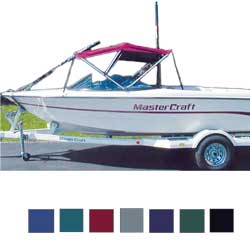 Taylor Made Competition Ski Boat Biminis 6'l X 30''h 82''w Correct Craft Pacific Blue, Boat Bimini Tops