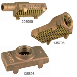 Perko Bronze Pump Strainers 1 1/4'' Npt Outlet 2 3/4''w X 1/2''l, Valves, Inlets & Strainers for Boats & Yachts