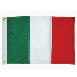 Taylor Made Italy Courtesy Flag 12'' X 18'', Marine Foreign Courtesy Flags