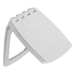 Perko Waterproof Lock & Latch Cover White 2 3/4'' X 1/4'', Boat Catches & Latches
