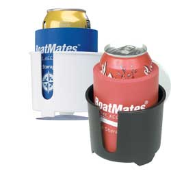 Boatmates Drink Holder Plus White/blue, Boat Drink Holders