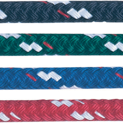 New England Ropes Solid Color Sta Set Polyester Yacht Braid Price Per Foot 3/16'' Set 1300lb Breaking Strength Black, Polyester Lines for Boats & Yachts