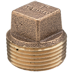 Seafit Bronze Square Head Plugs Npt 3/4'', Metal Plumbing Fittings for Boats & Yachts