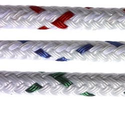 New England Ropes Color Coded Sta Set X Polyester Yacht Braid 1/4'' X 2700lb Breaking Strength Green, Polyester Lines for Boats & Yachts
