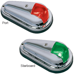 Perko Vertical Mount Sidelights Port/starboard Pair Chrome Plated Zinc Case 5 1/2'' X 3 1/8'' 3/4'', Navigation Lights for Boats & Yachts