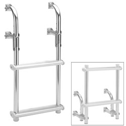 Garelick Fold Down Transom Ladder, Dock Boarding Ladders for Boats & Yachts