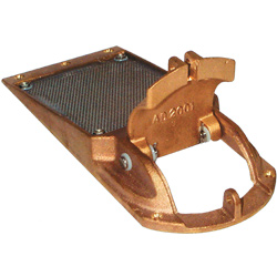Groco Bronze Perforated Hull Strainers With Clean Out Door 1 1/4'' Max Thru Size Strainer 0 077''dia Hole Screen 1 5''h 3 38''w 7''l, Valves, Inlets & Strainers for Boats & Yachts