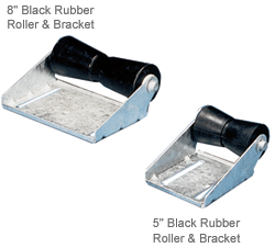 C E Smith Roller & Bracket Assemblies Black Rubber Assembly 5'' Keel 5/8'' Shaft, Bunks & Rollers for Boats & Yachts