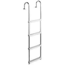 Garelick Gunwale Mount Pontoon Ladder, Dock Boarding Ladders for Boats & Yachts