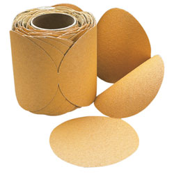 3M 6'' Stikit Gold 236u Sanding Discs P60 Regular No Hole Weight 100 Qty, Abrasive Discs for Boats & Yachts