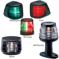 Aqua Signal Series 20 Navigation Lights Masthead All Round 8'' Pole Deck Mount Light 5w 2nm Visibility Black Housing, Navigation Lights for Boats & Yachts