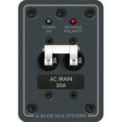 Blue Sea Systems 120v Ac Main Only Toggle Circuit Breaker Panels 30a, Distribution Panels for Boats & Yachts