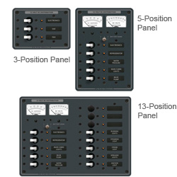 Blue Sea Systems A Series Toggle Branch Circuit Breaker Panels 5 Position 12v Dc Panel Included Circuits 7 1/2'' X 1/4'', Distribution Panels for Boats & Yachts