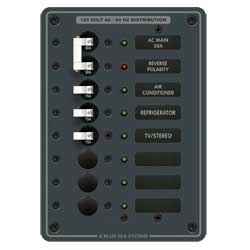 Blue Sea Systems Ac Main Panel   6 Positions, Distribution Panels for Boats & Yachts
