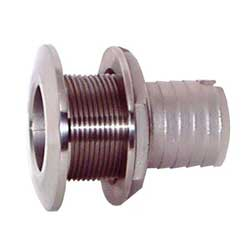 Groco Mushroom Head Barbed Thru Hull Fittings 1'' Nps 1/8'' Hose Id Max Thickness 2 93'' Flange Od, Metal Plumbing Fittings for Boats & Yachts