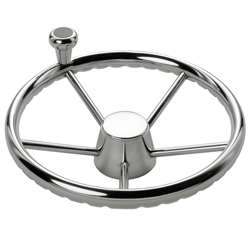 Schmitt Marine Steering Destroyer Wheel With Control Knob 13 5'', Steering Wheels & Accessories for Boats & Yachts