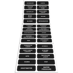 Blue Sea Systems Large Format Distribution Panel Labels Dc Basic Labels 30, Distribution Panels for Boats & Yachts