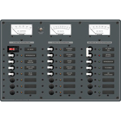 Blue Sea Systems 120v Ac/dc Toggle Circuit Breaker Panels Main   6 Positions/dc 15, Distribution Panels for Boats & Yachts