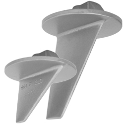 Sea Shield Marine Mercury Long Skeg Anode 4'', Outboard & Outdrive Anodes for Boats & Yachts