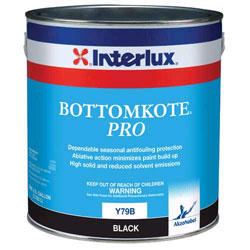 Interlux Bottomkote Pro Gal Black, Bottom Paint for Boats & Yachts