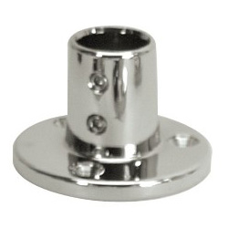 Whitecap Round Base Rail Fitting, Stainless-Steel Boat Rail Fittings
