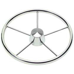 Schmitt Marine Steering Stainless Steel Destroyer Wheel, Steering Wheels & Accessories for Boats & Yachts