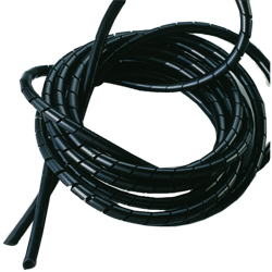 Ancor Marine Spiral Wraps 1/2''dia X 10'l Wrap Black, Wire Support & Heat Shrink for Boats & Yachts