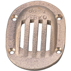 Groco Bronze Scoop Strainers For Thru Hull Size 2 1/2'' 8 X 6'', Metal Plumbing Fittings for Boats & Yachts