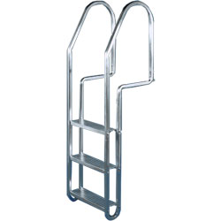 Dock Edge Aluminum Dock Ladders 3 Step, Dock Boarding Ladders for Boats & Yachts