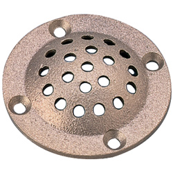 Perko Bronze Round Strainers For Thru Hull Size 1 1/4'' & 1/2'' 4''od 3''id, Valves, Inlets & Strainers for Boats & Yachts